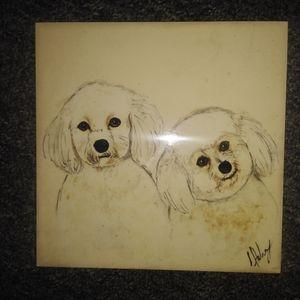 Puppies dog hanging  tile.